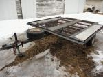 2011 Homemade steel trailer, approx...