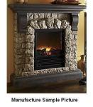 Electric Faux Stone Fireplace Add c...