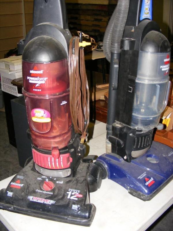 Two Bissell Vacuum Cleaners Untest