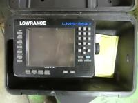 Lowrance LMS-350 fish finder in cas...