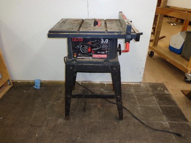 10 Craftsman Table Saw Model May Consignment Auction K Bid