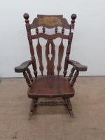 Antique Solid Wood Rocking Chair 23...