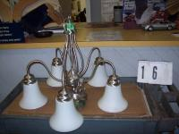 5 Lamp Pewter Chandelier...