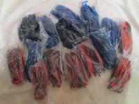 Lot of 15 bags of 4 jig worms. 8 bl...