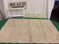 Sand Color Rug (46x32), Metal Beach...