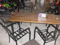 Patio set wood grain looking table....