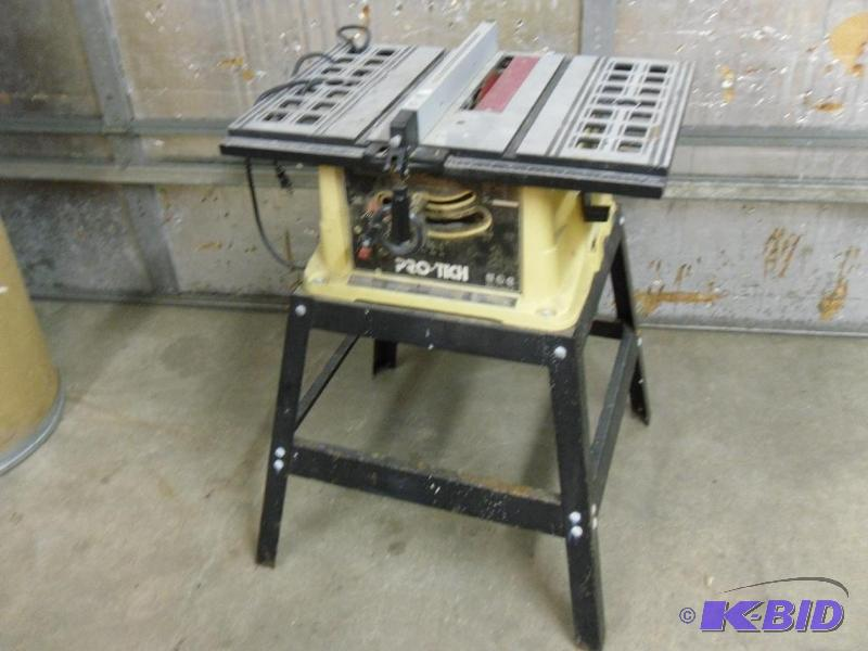 Pro tech 10 table saw model hahn customs contractor tools electronics household more Pro tech table saw