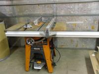 "10"" Ridgid Table Saw. Model TS..."