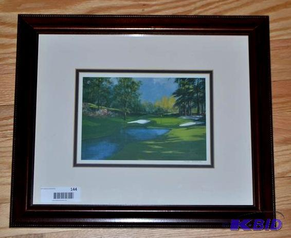 Signed Framed Print By Judy O Brien Gold Rings