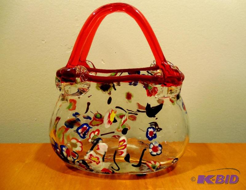 Murano Millefiori Art Glass Purse Marys Quality Estate