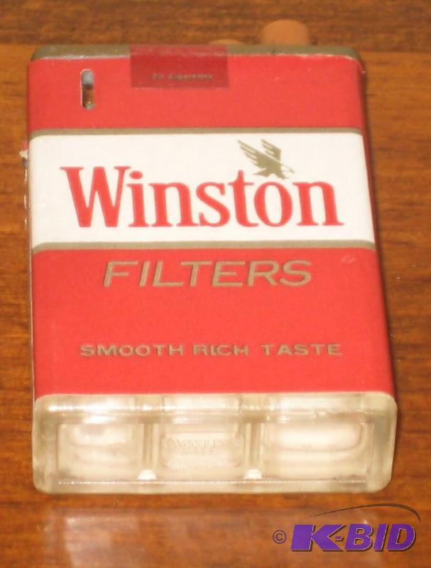 HIGHLY COLLECTIBLE AND RARE WINSTON CIGARETTE LIGHTER (STILL WORKS