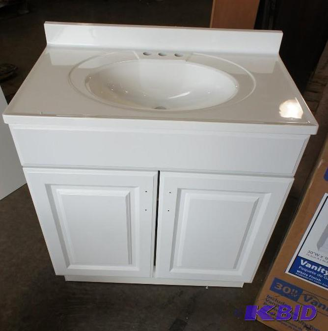 Glacier Bay Vanity Combo Sink. Dimensions: 18... | Home Improvement Bathroom  Fixtures Auction | K BID