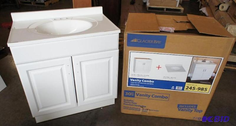 Glacier bay vanity combo sink  Dimensions  18      Home Improvement Bathroom Fixtures Auction   K BID. Glacier bay vanity combo sink  Dimensions  18      Home