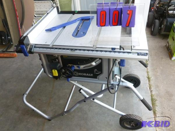 Amazing Kobalt 10 Contractor Table Saw Lightly Sns Auctions Download Free Architecture Designs Scobabritishbridgeorg