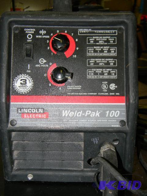 Lincoln Electric Weld Pak 100 Arc Welding P Tools