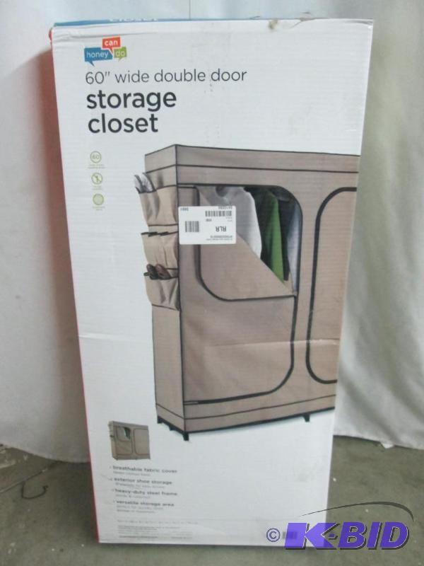 Honey Can Do 60 Double Door Storage Closet July Store Returns 5