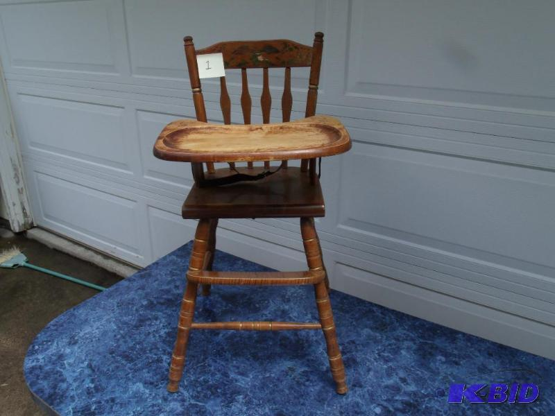 Vintage Oak Hill Classic Wood Highchair | Estate Auction #1 Fenton, Art and  Misc. | K-BID - Vintage Oak Hill Classic Wood Highchair Estate Auction #1 Fenton