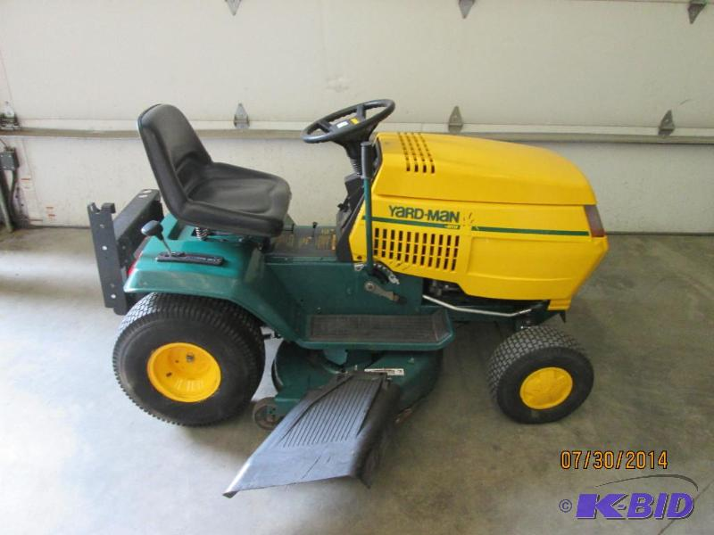 Man Riding Lawn Mower : Yard man quot lawn tractor hp kohler e le august