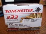 Winchester 22 Long Rifle -Hollow point, coppe...