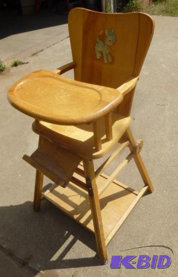 antique wooden high chair that converts to de north star brainerd lakes august consignments k bid antique high chairs wooden