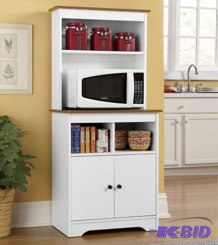 White Microwave Stand With Hutch - An Essenti...