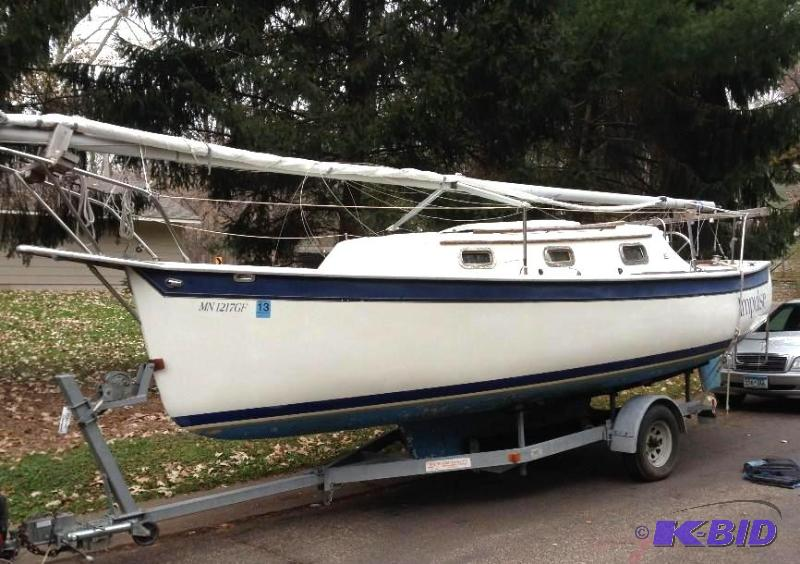 1990 Seaward 23 Sailboat With Tohatsu 5 HP Outboard Motor And Heavy