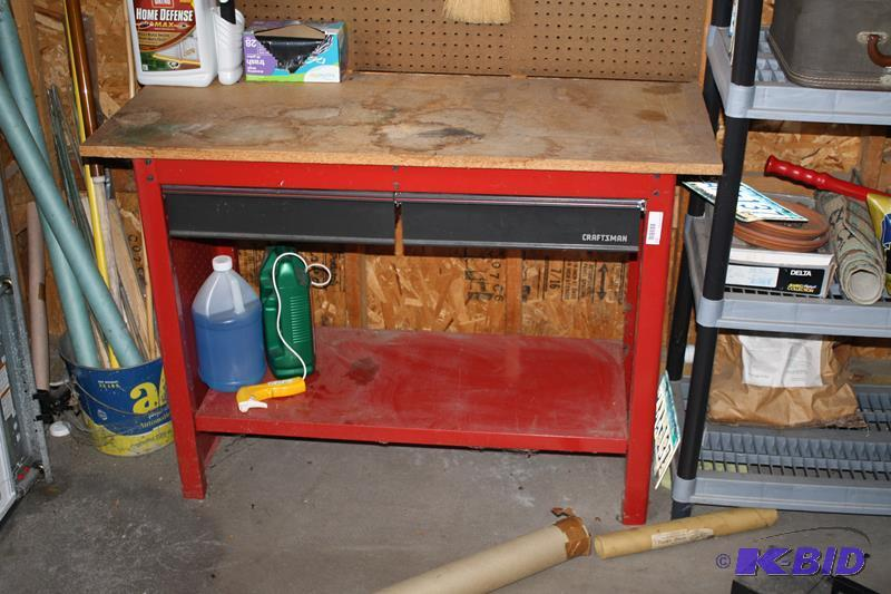Craftsman metal workbench with 2 drawers 24x ammo for Craftsman workshop