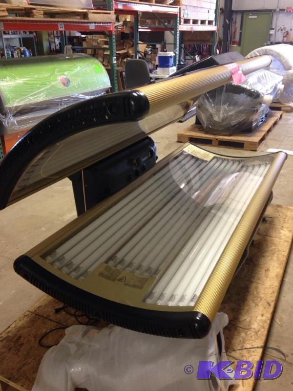 2002 Tan America Vip Gold 3200 2 Black Tanning Bed Used