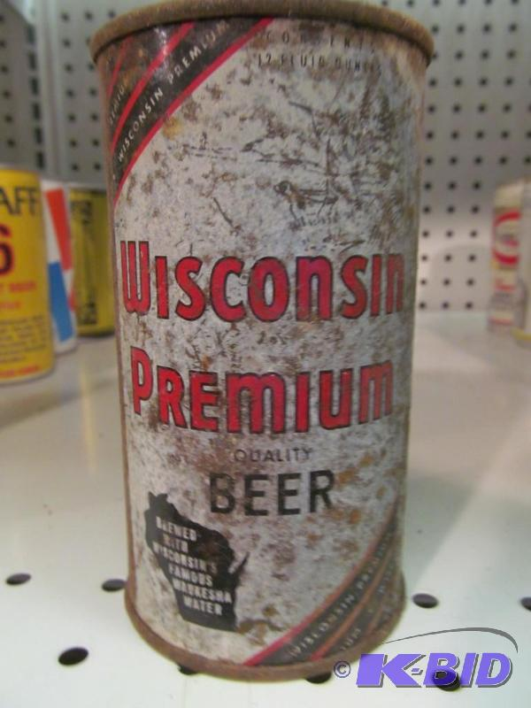 Wisconsin Premium Beer 12oz Flat Top Beer Can | Man Cave