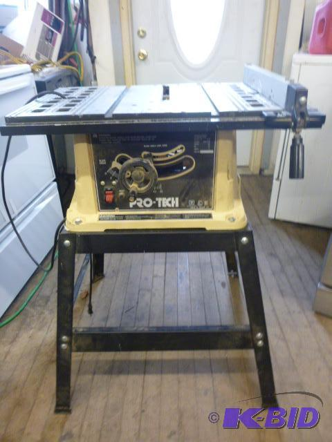 Pro tech table saw with stand model 4106 10 northstar kimball november consignments 1 Pro tech table saw