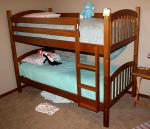 "Wood bunk beds with bedding 43x79"" 63&qu..."