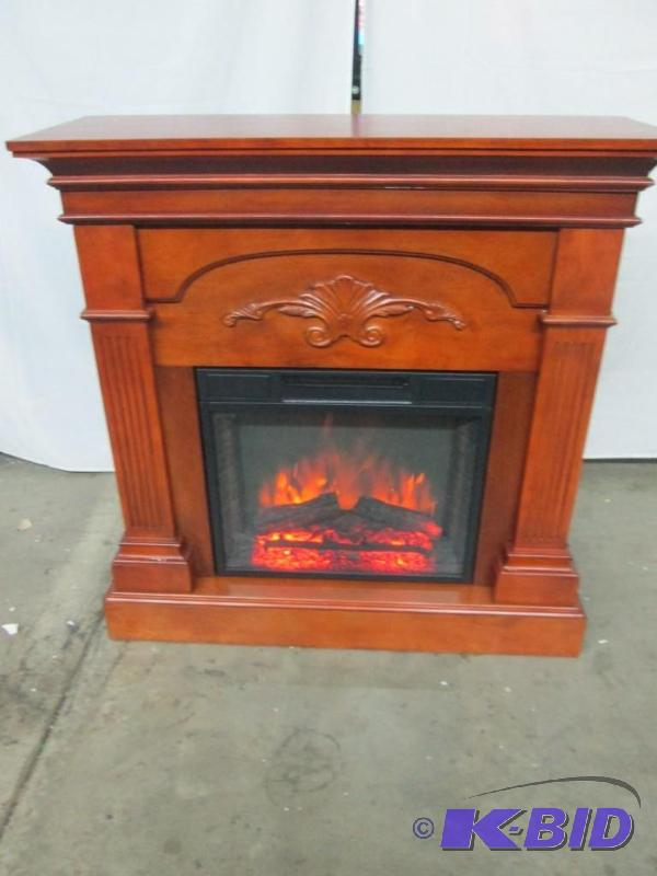 McLeland Design Fireplace Mantel w/ Electric Heater Insert ...