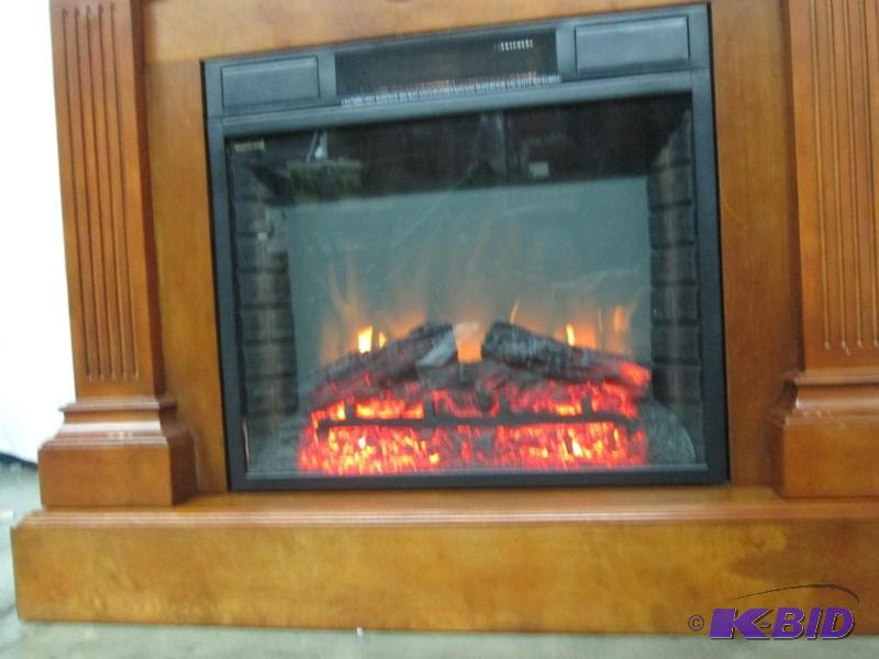 Mcleland Design Fireplace Mantel W Electric Heater Insert
