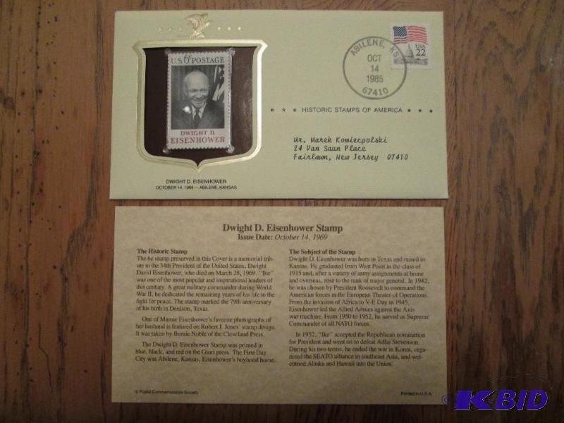 Dwight D Eisenhower Stamp Issued 1969 Mint
