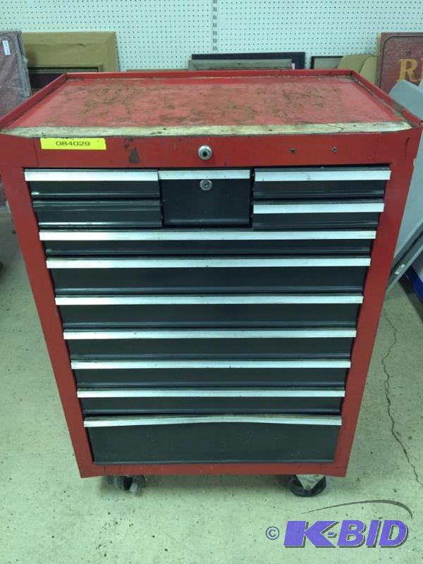 Red Craftsman Like  Drawer Rolling Toolbox January Tool And Man Stuff Auction Kbid