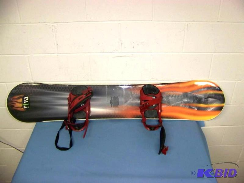 Riva, Snowboard And Bindings | #149 Miscellaneous Furniture, Sports, Kids,  Man Cave Items | K BID