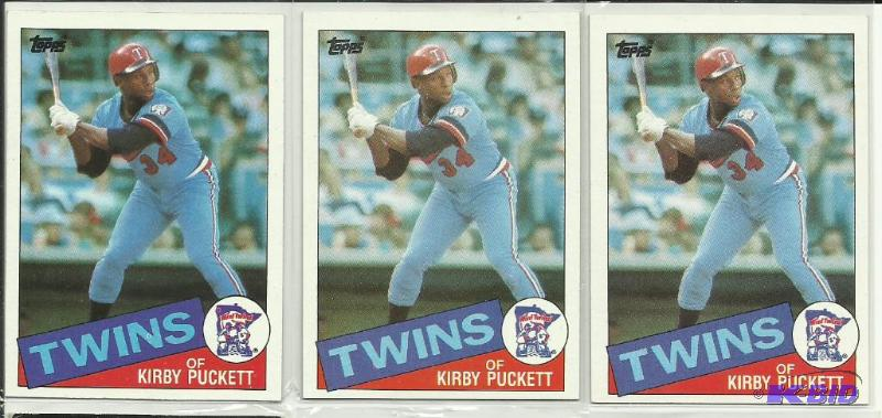 3 1985 Topps Kirby Puckett Rookie Card 536 Sports Cards