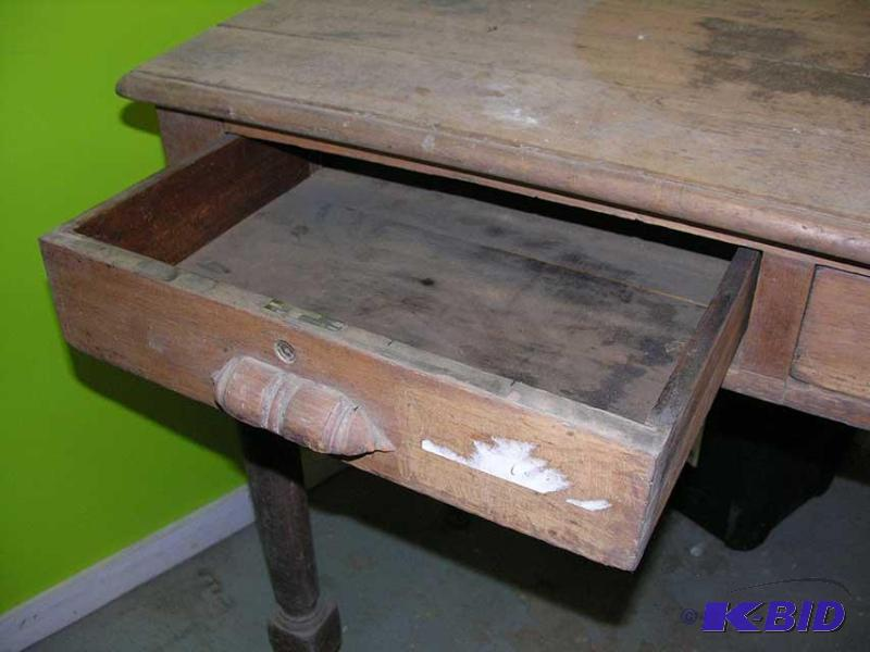 Antique Wooden Post Office Sorting Desk.
