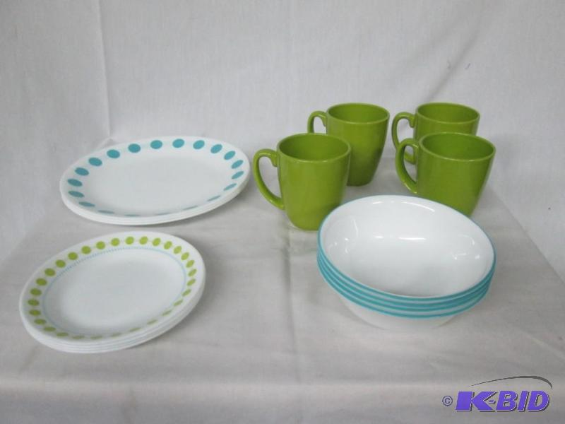 Corelle South Beach 16-pc. Dinnerware Set | February Store Returns and Consignments #4 | K-BID : corelle 16 pc dinnerware set - pezcame.com