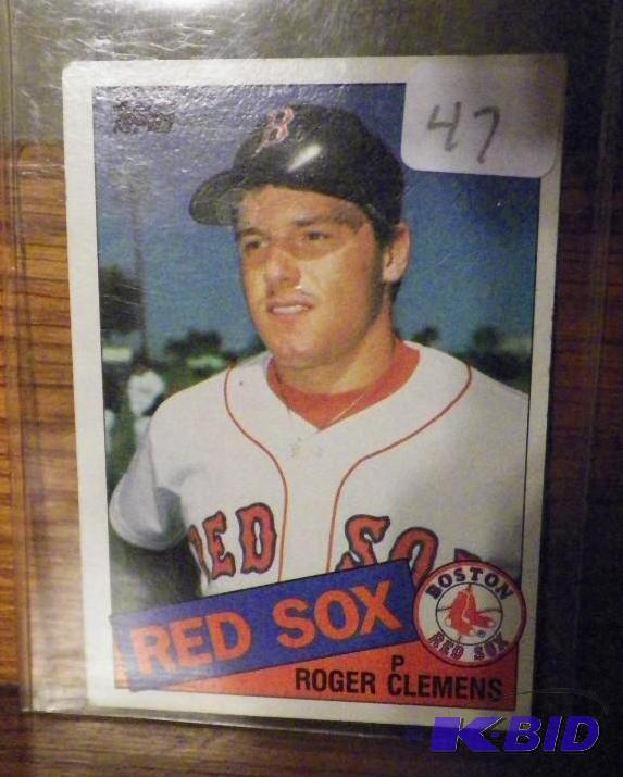 1985 Topps Roger Clemens Rookie Card Rare Sports Cards
