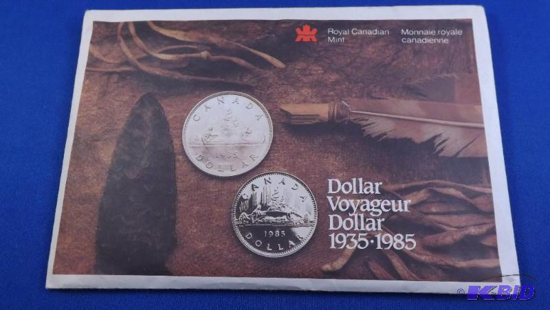 1985 Uncirculated Canadian mint set, Dollar V    | March