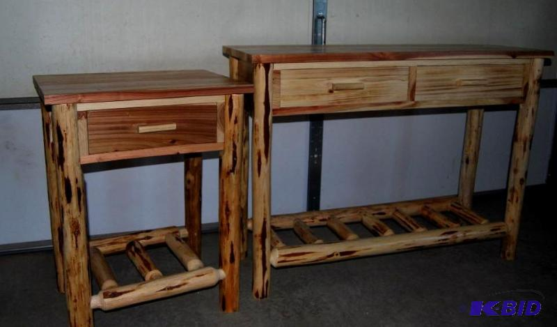 Castlecreek Log Sofa Table And End