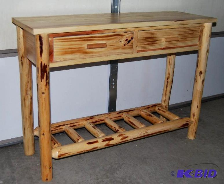 Castlecreek Log Sofa Table Logs Are