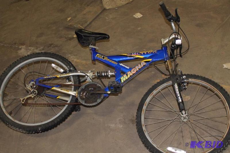 cd65568d9a3 Magna Excitor 2x Dual Suspension 21 Speed Mountain Bike; Blue/Yellow. |  City of Apple Valley Auction | K-BID