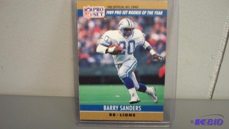 1990 Nfl Pro Set Barry Sanders Rookie Card 1 Fivestar Auction