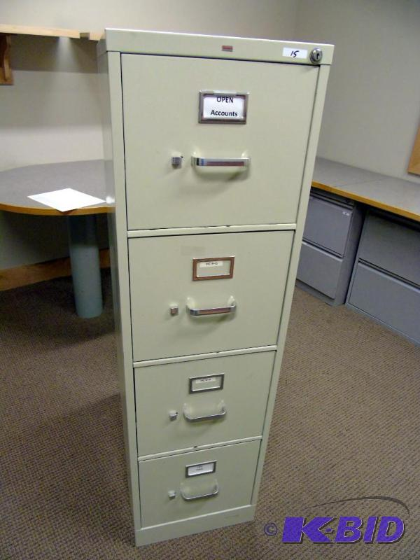 Geneva 4 Drawer Locking File Cabinet Nixit Consignment 11 Office Furniture Lateral Files Phoneore K Bid