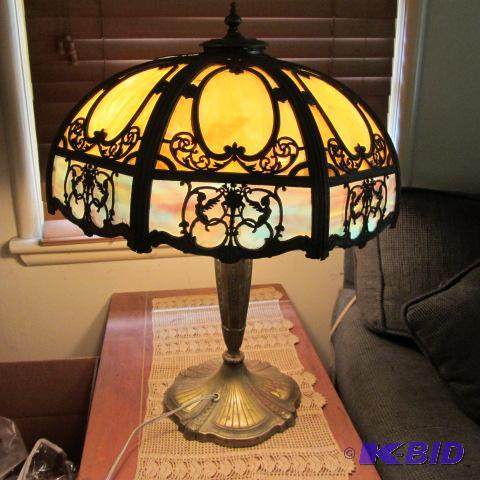 Antique Table Lamp Koch Living Estate K Bid