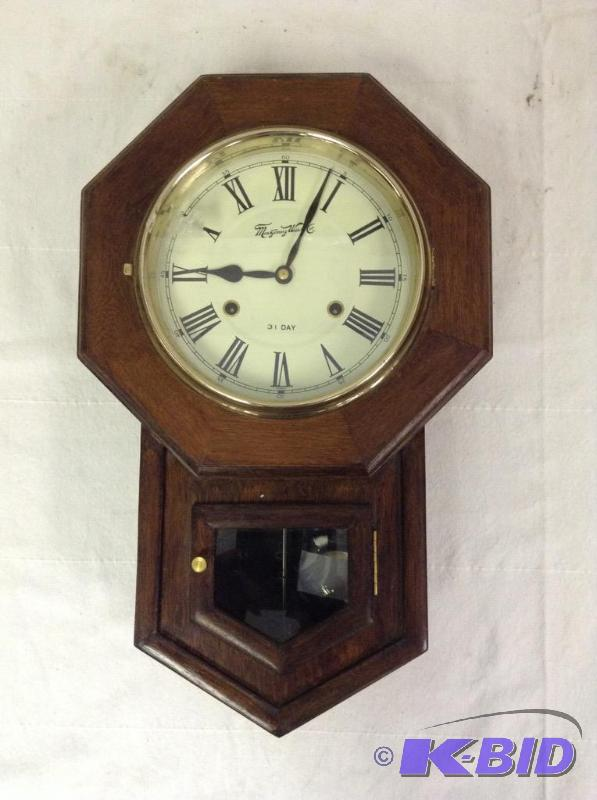 Vintage Montgomery Ward Amp Co Schoolhouse Wall Clock