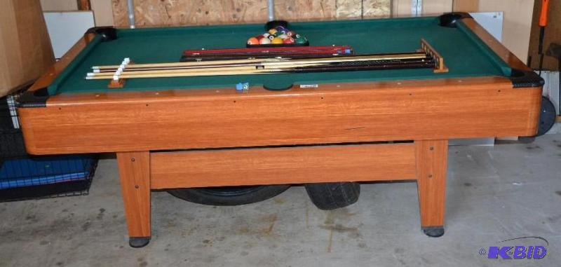 Mizerak Pool Table With Rack Balls Cues Whiteford - Sears billiard table sale