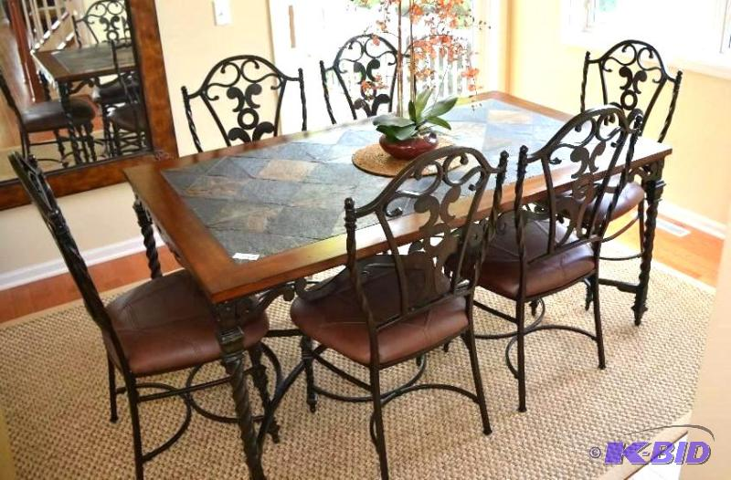 Wrought Iron Kitchen Table With Six Chairs T Whiteford Eden Prairie High End Furniture And Art Couches Tables Desk Absolutely Amazing